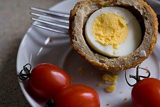 Scotch egg - Scotch egg, halved