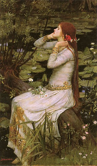 Ophelia - John William Waterhouse's painting Ophelia (1894)