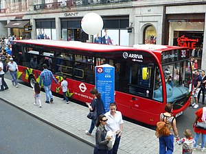 Optare MetroCity - Arriva London MetroCity on Regent Street, London in July 2016