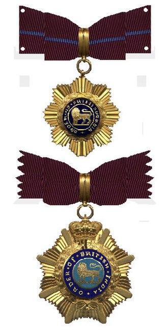 Order of British India - Image: Order of British India