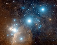 Photo of Orion Belt with the stars Alnitak, Al...