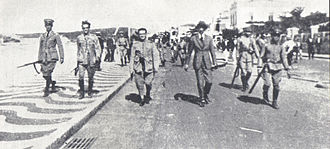 Tenentism - The Tenentes leaders after leaving the Copacabana fort on 6 July 1922.