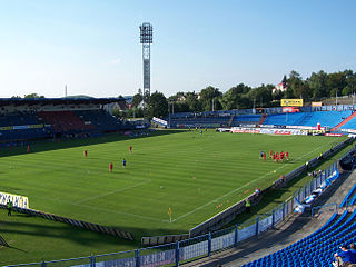 Bazaly Football stadium in the Czech Republic