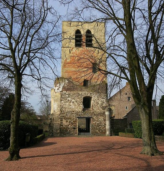 Overblijfsel van vroegere kerk in Oud-Dilsen uit 1250