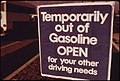 Out of Gasoline Signs Were Increasingly Evident in Oregon During the Month of October, 1973. Stations Such as This One at Lincoln City Along the Coast Closed Earlier and Stayed Closed Longer, Including Weekends 10-1973 (4271715683).jpg