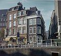 Overzicht van de voorgevels en een linker zijgevel met zicht in de Maarsmansteeg - Leiden - 20382219 - RCE.jpg