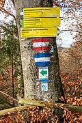 Pörtschach Leonstein Gloriettenweg Hohe Gloriette Wegweiser 28112019 7573.jpg