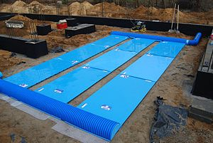Heat recovery ventilation - Plate ground heat exchanger inside the foundation walls