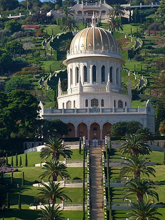 Culture of Israel - Shrine of the Báb, built between 1949 and 1953, is an example of the architecture in Israel