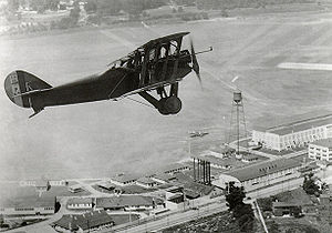 U.S. Air Force Test Pilot School - Packard-LePere Lusac 11 Biplane over McCook Field