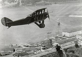 U.S. Air Force Test Pilot School - Packard-LePere Lusac 11 Biplane over McCook Field