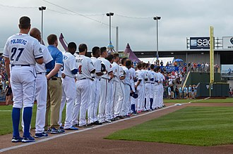 Triple-A All-Star Game - 2015 PCL All-Stars before the game