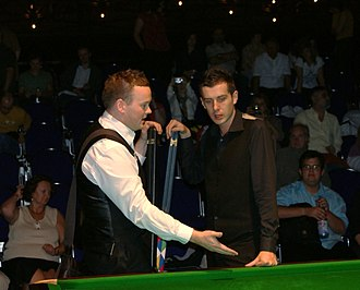 Shaun Murphy (snooker player) - Murphy speaking with Mark Selby before the final of the 2008 Paul Hunter Classic