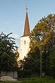 PL-DS, pow. wrocławski, gm. Żórawina, Węgry, ul. Kościelna; Zespół kościoła par. p.w. św. Jadwigi- Kościół par. p.w. św. Jadwigi (wieża); 1816; 02.jpg