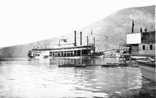 PSM V55 D180 Arrival of the sternwheeler to dawson from down river.png