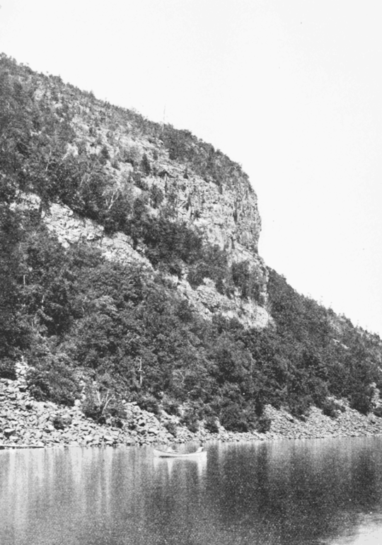 PSM V68 D206 Deers leap escarpment on lake george.png