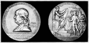 Benjamin Franklin Medal (American Philosophical Society) - The Benjamin Franklin Medal
