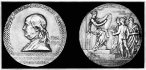 Benjamin Franklin Medal (American Philosophical Society) - The Benjamin Franklin Medal