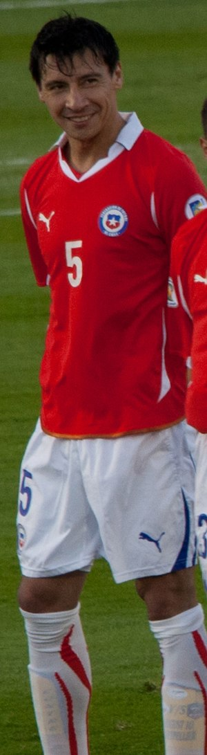 Pablo Contreras - Contreras playing for Chile in 2011.