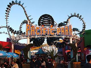 Pacific Park amusement park in Santa Monica, California, United States