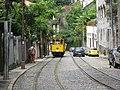 Packed tram climbing steep section of Rua Murtinho on Rio's Santa Teresa line in 2008.jpg