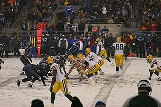 2006 NFL season - The Seattle Seahawks host the Green Bay Packers in snow at Qwest Field, November 26, 2006