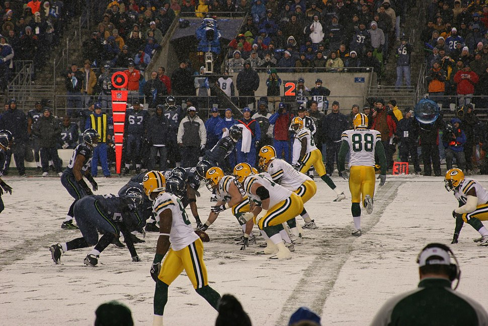 Packers offense lines up vs Seahawks 2006-11-27