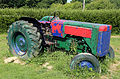 Painted tractor at Colgate West Sussex England 02.JPG