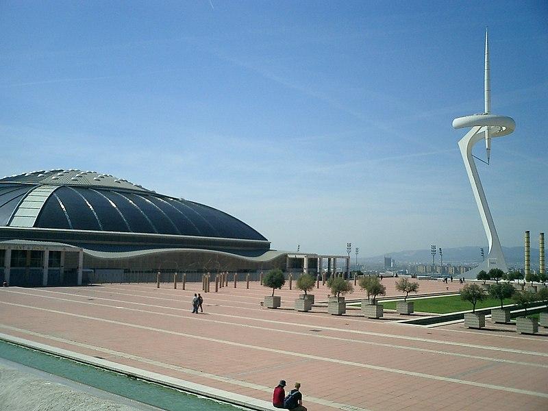 File:Palau San Jordi Torre Calatrava Barcelona.jpg