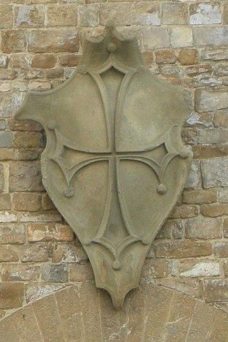 Occitan cross - Image: Palazzo mozzi, stemma mozzi