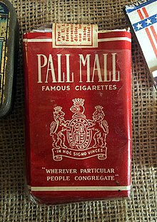 Pall Mall cigarette pack, Museum Winter 1944 in Gingelom.JPG