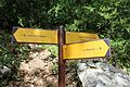 Panneau direction GR4 près Mescla Grand Canyon Verdon Palud Verdon 2.jpg