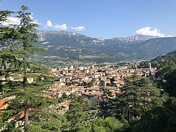 Panorama of Rovereto, with Monte Cengialto (on the right)