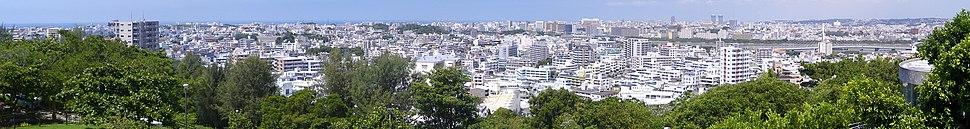 Panoramic view of Naha City from Kaigungo Navy Headquarters Park