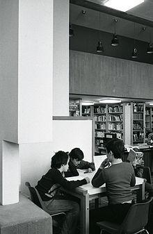 Una sala di lettura nel 1976