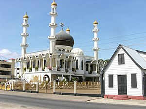 Religion in Suriname - Mosque Keizerstraat in Paramaribo.