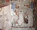Parete palinsesto con madonna in trono con angelo (500-550 ca.), annunciazione (590 ca.), basilio e giovanni crisost. (post 649) e gregorio nazianz. e basilio (705-707) 04.jpg