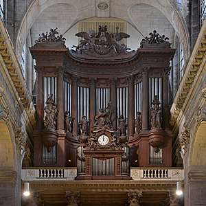 The Great Organ of Saint-Sulpice church by Aristide Cavaillé-Coll and Jean Chalgrin - Paris, France.