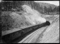 Passenger train entering the Chain Hills Tunnel near Wingatui Junction, in October 1925. ATLIB 292088.png