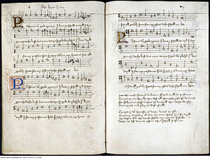 Folk music of England - Original score of Pastime with Good Company (c. 1513), held in the British Library, London.