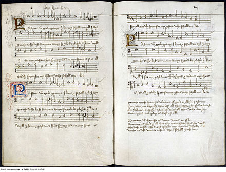 Partitura de &quotPastime with Good Company&quot, composta pelo rei c. 1513. - Henrique VIII de Inglaterra