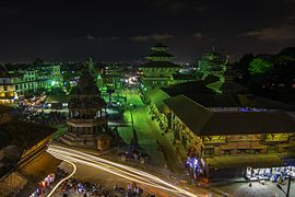 Patan Durbar Square at night-IMG 4132.jpg