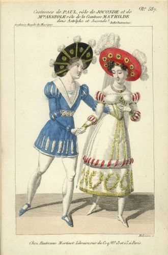 Madame Anatole - Paul and Madame Anatole in Astolphe et Joconde (1827)