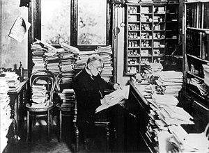 Deutsch: Paul Ehrlich, in seinem Arbeitszimmer...