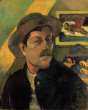 Spirit of the Dead Watching - Paul Gauguin, Self-portrait, 1893. Gauguin's self-portrait of 1893, with Spirit of the Dead Watching in the background.