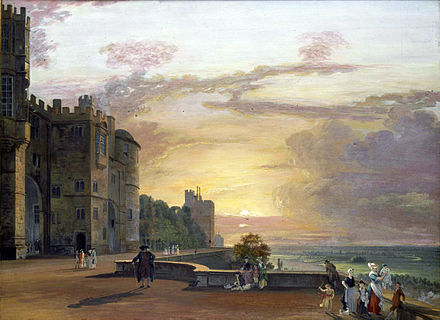 The North Terrace at sunset c.1790, by Paul Sandby Paul Sandby 001.jpg