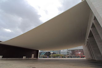 Expo '98 - Pavilion of Portugal with its concrete veil (designed by Álvaro Siza Vieira)