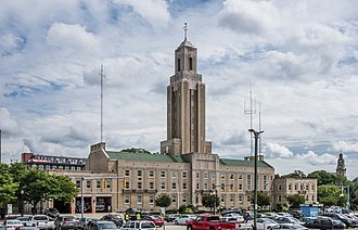 Pawtucket City Hall - Pawtucket City Hall in 2013 from the parking lot across the street