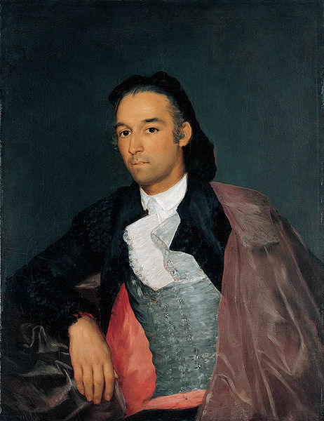 Portrait of the Matador Pedro Romero by Goya