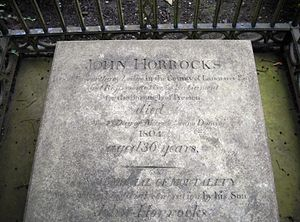 John Horrocks (politician) - Horrocks' grave at St Mary's Church, Penwortham